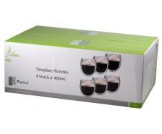 Feelino 6R XXL 6X 400ml extra große Teegläser und Kaffeegläser, Thermogläser mit Schwebe-Effekt auch für Latte Macchiato, Cappuchino, Tee, Schorle, Desserts oder als Eisbecher geeignet