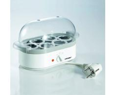 Cloer 6091 Eierkocher mit akustischer Fertigmeldung / 400 W / für 6 Eier / antihaftbeschichtete Heizplatte