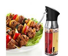 ABS Edelstahl Ölsprüher Oil Sprayer Öl Sprüher Glas Flasche Essig Spender Küche Werkzeug Zerstäuber Für Kochen Salat BBQ Pasta Grill Gewürz 200ml Mit Bürsten