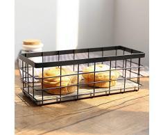 HOMIXES Allzweckkorb Metall Grid Aufbewahrungskorb Dekokörbe Haushalt Drahtkorb für Desktop Obst Snacks Küche Speisekammer