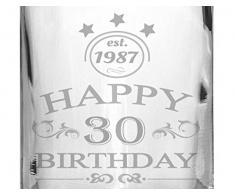 2 Edle Whiskey-Gläser mit Whiskeykaraffe 30 Jahre Gravur - Whisky-Set graviert Geschenkidee
