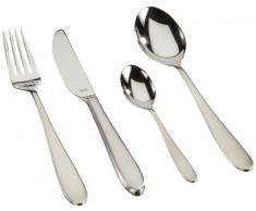Silit Tender Besteckset, 24-teilig, für 6 Personen, Monobloc-Messer, Crominox Edelstahl poliert, spülmaschinengeeignet
