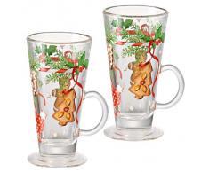 Hutschenreuther 02433-725492-48735 Weichnachtsleckereien Set, 2 Glühweinbecher aus Glas im Geschenkkarton