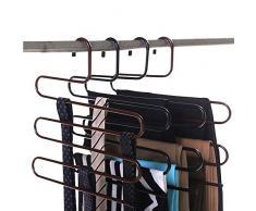 4 Stück Raumspartrockner Kleidung, S-Type MEHRZWECK-platzsparende Rack, Edelstahl Kleiderbügel für Hosen-Schal Krawatte