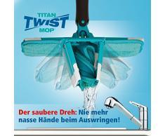 Titan Twist Mop - Bekannt aus dem TV - Der innovative Wischmopp - Auswringen ohne nasse Hände - Genial einfacher Wischmop