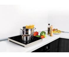 Thomson THHP07082 Posable Induktionskochplatte mit 3-flammig, schwarz/silber, 3400 W