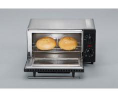 SEVERIN TO 2052 Back- und Toastofen (800 W, Inkl. Grillrost und Backblech, 9 L) silber /schwarz
