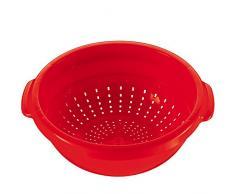 Küchensieb aus Kunststoff mit praktischen Griffen, Ø 22 cm, 9,5 cm hoch || Nudelsieb Salatsieb Seiher Abtropfsieb Obst Sieb Haushalt