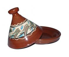 Marokkanische Tajine zum Kochen Ø 30 cm f. 2-4 Personen – Orientalisch Kochen, Original