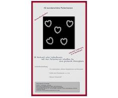 50 Perlenherzen Deko Streuteile Scrapbooking Tischdeko Streudeko Hochzeit
