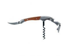 Laguiole Kellnermesser Sommeliermesser aus Holz und Stahl Korkenzieher, Kapselheber und Flaschenöffner, aus schönem Bambus