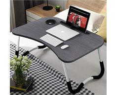 Laptop-Betttisch, Frühstück Serviertablage,Notebookständer, Lese Tisch Stabiler Tragbarer, Bett Tablett mit Tassenschlitz, Multifunktionstisch(60 * 40cm)