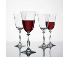 Bohemia Cristal 093 006 001 Weinkelche ca. 350 ml aus Kristallglas 6er Set Angela