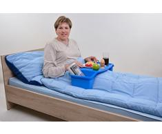 Pflegehome24® Bett Tisch, Laptoptisch, Serviertisch, Tablett, blau