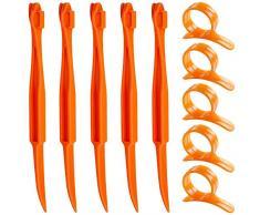 Zeagro 10 Stück Orangen-Zitrusschäler, 10 Stück Kunststoff-Frucht-Zitronenschalen-Entferner