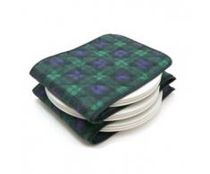 Hot Ideas Elektrischer Tellerwärmer - 12 Teller Blackwatch Tartan (EUR stecker)