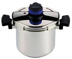 7 Liter Edelstahl Topf Kochtopf Schnellkochtopf extra Sicherheitssystem mit deutschem Rezeptheft
