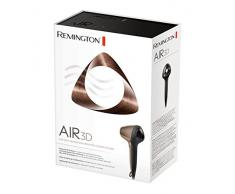 Remington Ionen-Haartrockner Air3D D7777, einzigartiger 3D-Luftstrom, innovatives Design, zwei Stylingdüsen, Diffusor, bronze