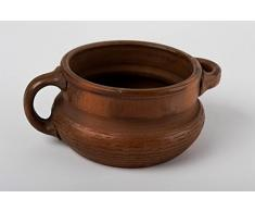 Teller Keramik handmade Suppen Terrine Teller braun Geschenk fur Frauen 750 ml
