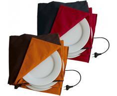 Solis Tellerwärmer, Bis 10 Teller mit 32 cm Durchmesser, Automatische Wärmeregulierung, King Size Tellerwärmer, Anthrazit/Rot