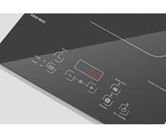 Caso Comfort C2000 - Einzel- Induktionskochfeld - Induktions-Kochplatte mit Glaskeramik- Ganzglasoberfläche, Kochfeld mit 10 Leistungsstufen, Timer und Warmhaltefunktion