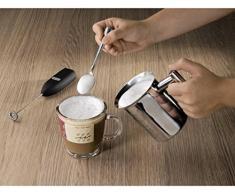 Xavax Elektrischer Milchaufschäumer (Milchschäumer mit 14.000 U/min, Aufschäumer Stab mit Spezialspirale, batteriebetriebener Milk Forther) schwarz