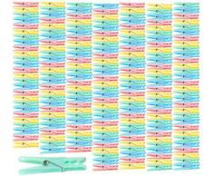 PEARL Wäscheklammern Sets: Bunte Wäscheklammern aus Kunststoff, 200 Stück in 4 Farben, 7 cm (Wäschklammern)