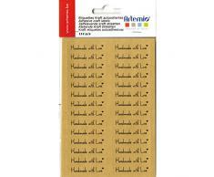 Artemio Tafelbesteck selbstklebend Kraft Etiketten handgefertigt mit Liebe, Braun