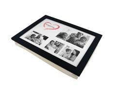 Knietablett P-779 mit Kissen und Fotorahmen schwarz