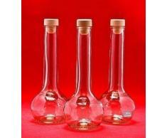 6 Leere Glasflaschen 500ml TUL-HGK Saftflaschen Essig- Öl Flasche Likörflaschen Schnapsflaschen Essigflaschen Ölflaschen 0,5 Liter l von slkfactory