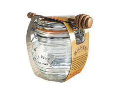 Kilner - Honigtopf mit Deckel und Honignehmer / Honigspender - Glas - schöne Vintage Optik