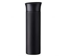 Xavax Thermobecher 500ml (Isolierbecher für Heiß- und Kaltgetränke, auslaufsicher, isoliert, Druck-Verschluss, Trinkbecher to go) schwarz-matt