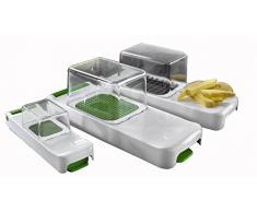 Alligator 3080 Family Zwiebel, Gemüse und Obstschneider 4 teilig Set, Küchenhelfer für schnelles und sauberes Schneiden
