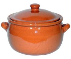 Amazing Cookware Kochtopf, Terrakotta, 5 l, Natur