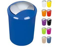Spirella Design Kosmetikeimer 10.14385Sydney mit Schwingdeckel 5 Liter (ØxH): 19 x 30 cm Blau