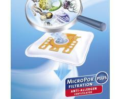 Swirl S 70 MicroPor Plus Staubsaugerbeutel für Siemens, Bosch Staubsauger, Anti-Allergen-Filter, 4 Stück inkl. Filter