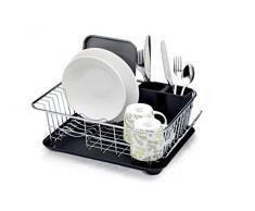 Kitchen Craft Abtropfgestell mit Abtropfschale, 42 x 30,5 x 15,5 cm