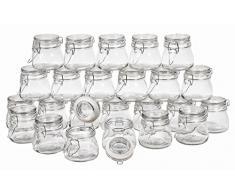 24 Vorratsglas Bügelverschluss 150ml Deckel VBS Großhandelspackung