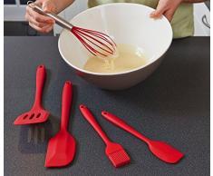 Aly Silikon Küchenhelfer 5-teilig,silikon küchenhelfer Küchenhelfer Set ,Hitzebeständig