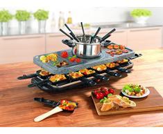 TV Unser Original 05897 Gourmet maxx Raclette-und Fondue-Set, granit