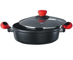 Stylen Cook I258524 24-er Servierpfanne mit Deckel Rockpearl Fire