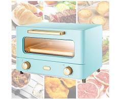 Minibackofen 12 Lliters   Mini Ofen   Mini Backofen   Ofen   Ichtbare GlasgehäRtete TüR   Abnehmbare KrüMelschale   60-Minuten-Timer Und Einstellbarer Temperaturregler,Blue-1000W