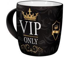 Nostalgic-Art Retro Kaffee-Becher - Achtung - VIP Only, Lustige große Retro Tasse mit Spruch, Geschenk-Idee für VIPs, 330 ml
