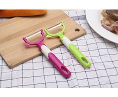 outgeek 2PCS Küchenschäler Gemüse Peeler Fruit Peeler Portable Nicht Beleg Küche Peeler Tool