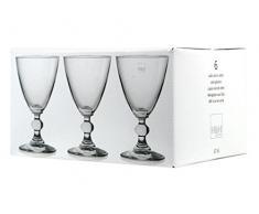 H&H Splendor Set Weinkelche, Glas, Transparent, 17 cl, 6 Stück