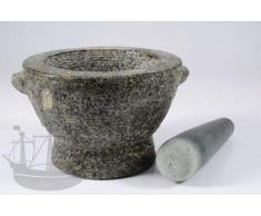 Mörser aus Granit, Granitmörser Goliath, schwarz-grau, mit Stößel, 5,5kg