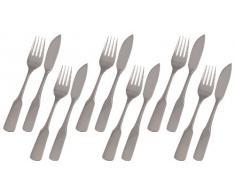 GRÄWE® Fischbesteck 12-teilig für 6 Personen, Serie Spaten Edelstahl 18/10