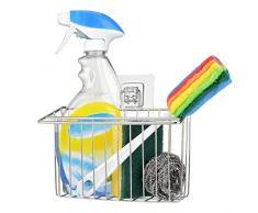Spülbecken Organizer für die Küche Caddy Ordnungshelfer Küchenutensilienhalter Schwammhalter Küchen Badezimmer Aufbewahrung ohne Bohren 304 Edelstahl Rostfrei