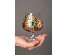 Cognac Glaser handgemacht Cognac Schwenker Brandy Glaser Designer Geschirr