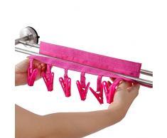 4 Stück Faltbare Stoffe Raumspartrockner Kleidung, Wäsche Drip Aufhänger mit 6 Clips für Wäsche Trocknen Socken, Handtuch, Unterwäsche, Hosen